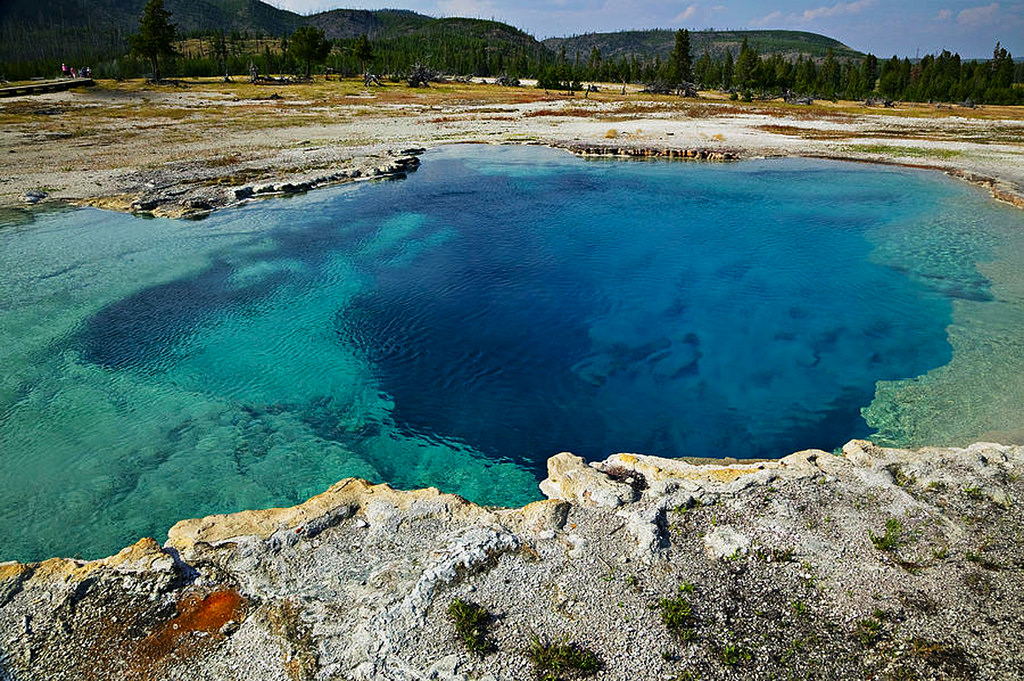 MAN DISSOLVES IN YELLOWSTONE HOTSPRING by SS&SS, on Flickr