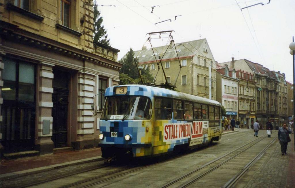 Tatra tram on dual gauge track, Liberec by sludgegulper, on Flickr