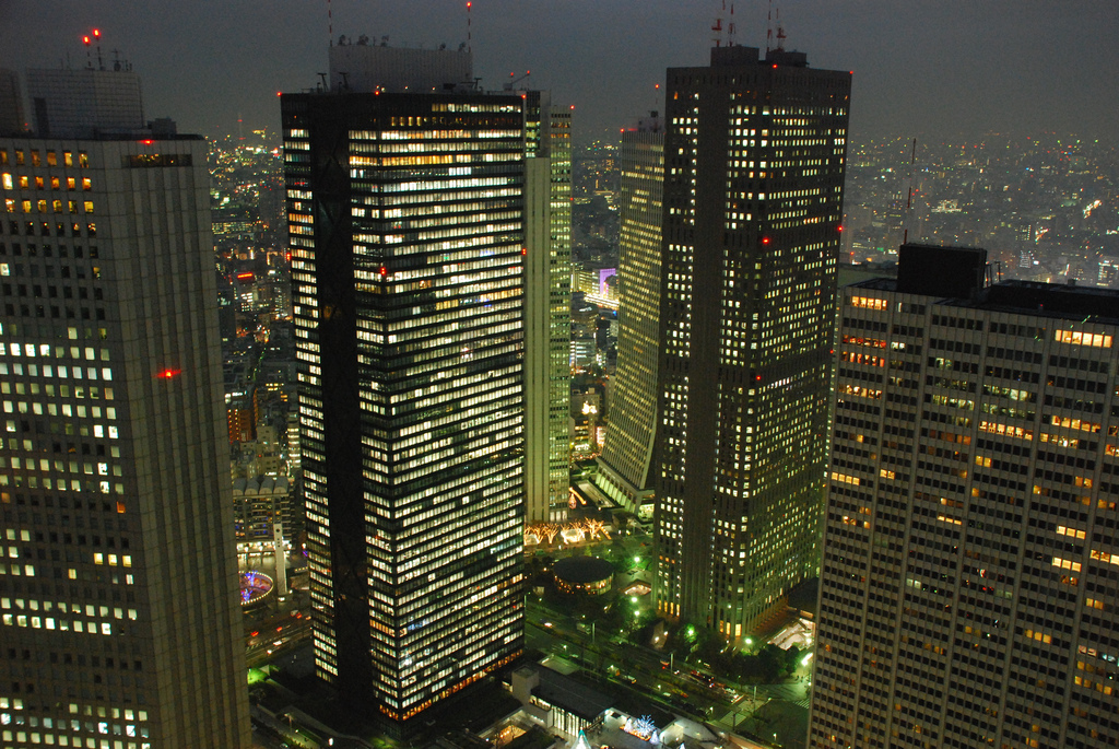 Shinjuku skyscrapers by wilhelmja, on Flickr