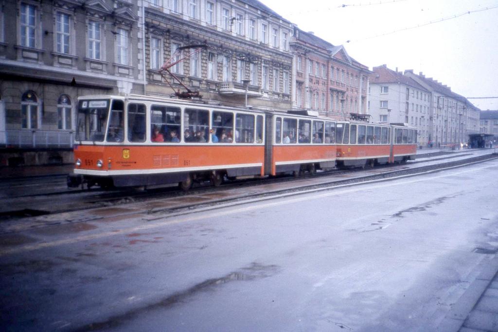 Empty streets in Potsdam DDR with Tram 0 by sludgegulper, on Flickr