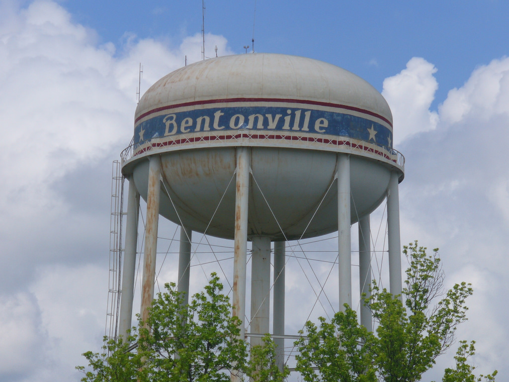 Bentonville Water Tower by KB35, on Flickr