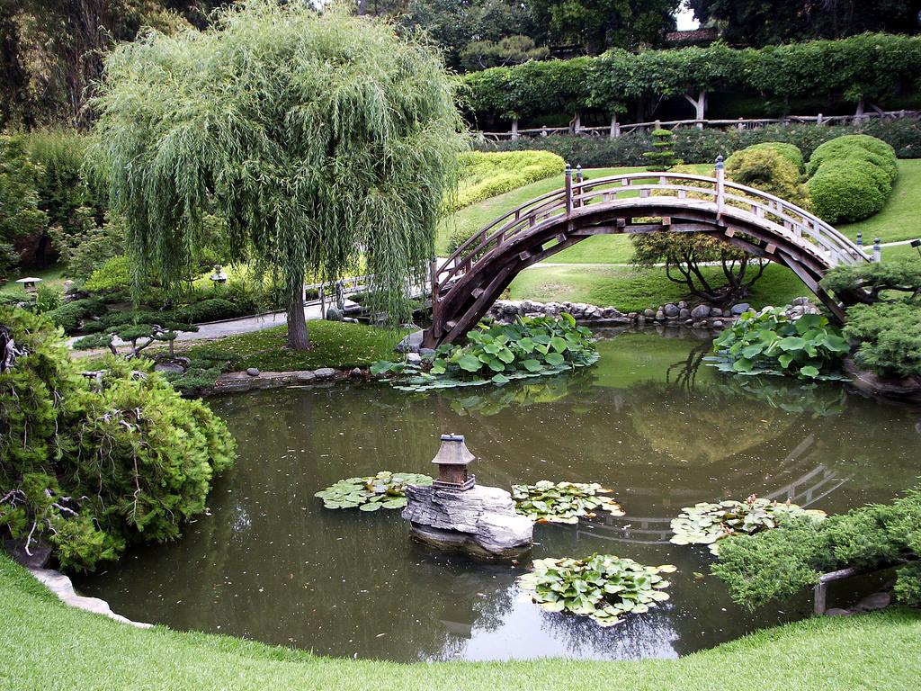 Bridge & Lily Pond, Japanese Garden, Hun by DominusVobiscum, on Flickr