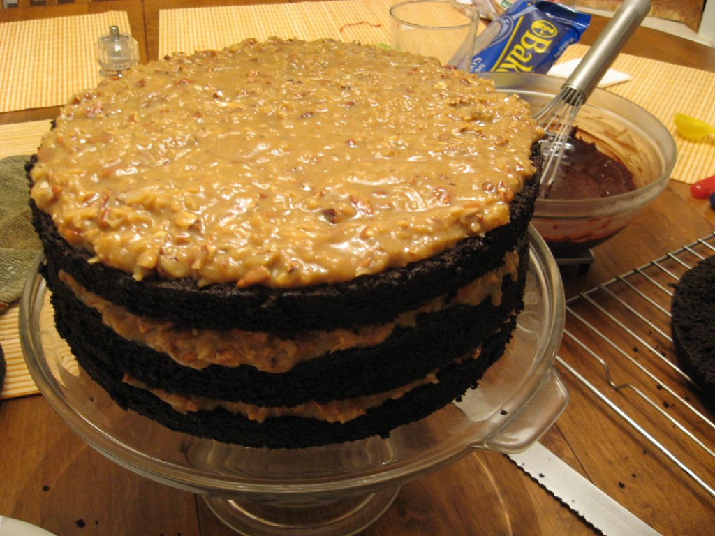 Bobby Flay German Chocolate Cake by kimberlykv, on Flickr