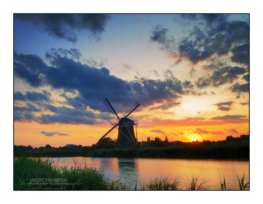 HDR Sunset @ Windmill 'Prinsenmolen', Ro by Vincent_AF, on Flickr