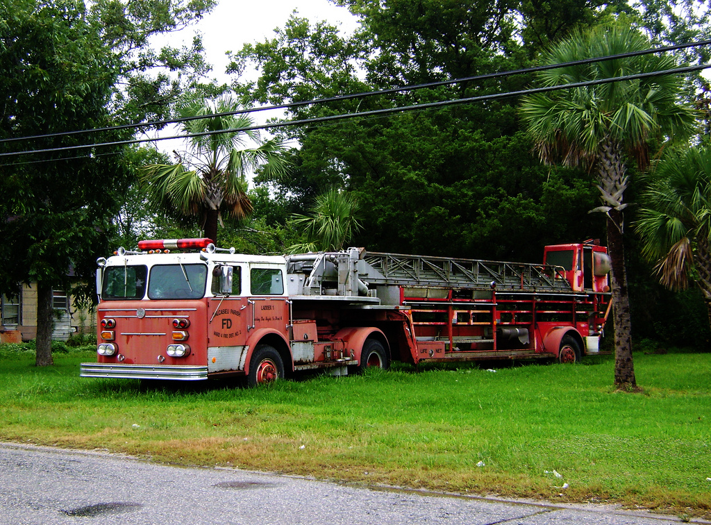 Old Fire Truck, China, Texas 0912091741 by Patrick Feller, on Flickr
