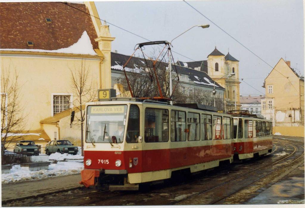 Bratislava Tatra T6A5 Tram 7915, Linka 9 by sludgegulper, on Flickr