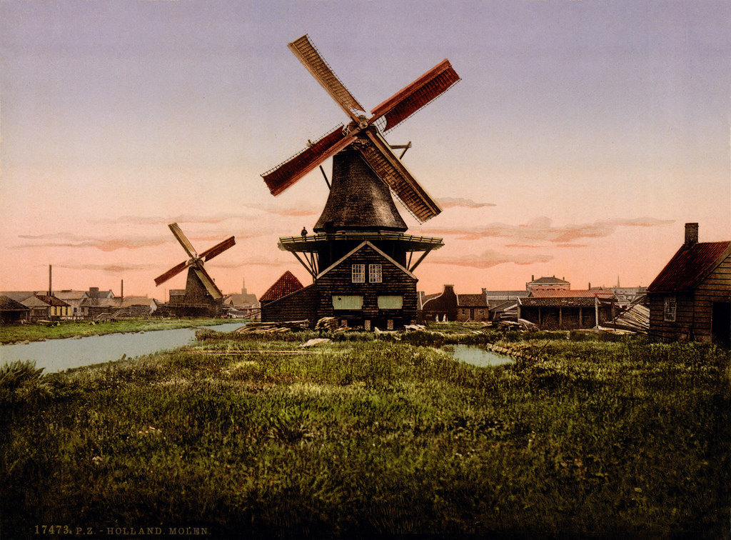Dutch windmills, Holland, ca. 1905 by trialsanderrors, on Flickr