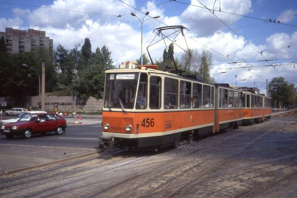 BVB East Berlin Tatra KT4D tram pair 456 by sludgegulper, on Flickr