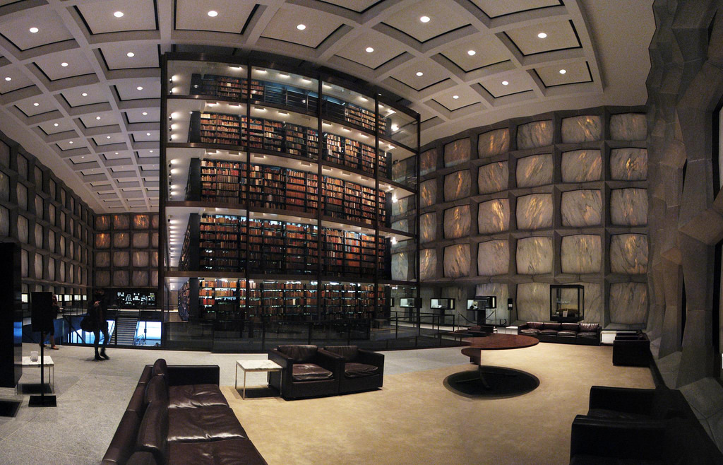 Yale University's Beinecke Rare Book and by Lauren Manning, on Flickr