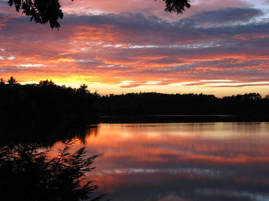 China Lake Sunset in Maine by Anna McDermott, on Flickr