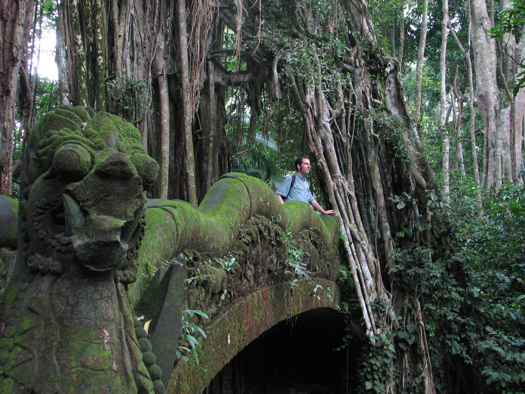 Patrick in Bali forest temple by surrealpenguin, on Flickr