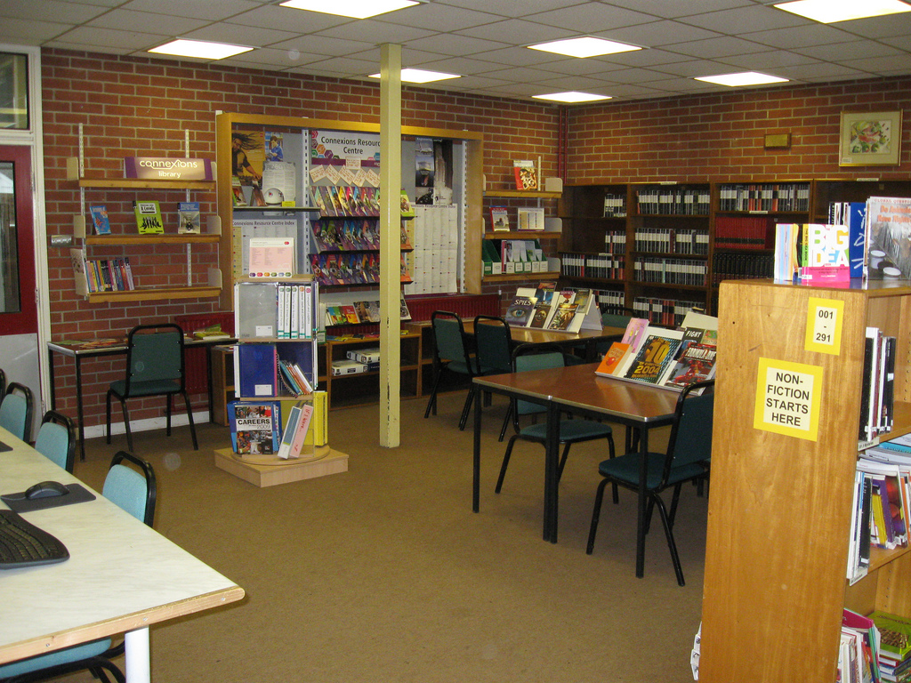 The Sixth Form Area - School Library - R by AberCJ, on Flickr