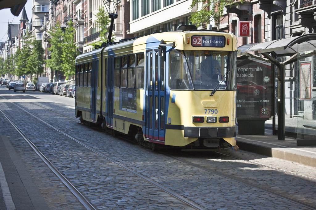 Brussels - The 92 Tram On Its Way To For by infomatique, on Flickr