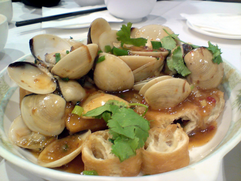Pipis in XO Sauce with Chinese Doughnut by avlxyz, on Flickr