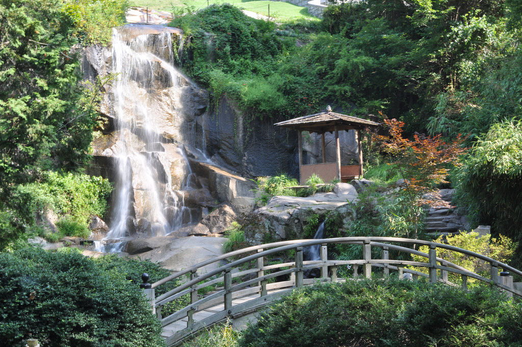 Japanese Garden Waterfall by deejayqueue, on Flickr