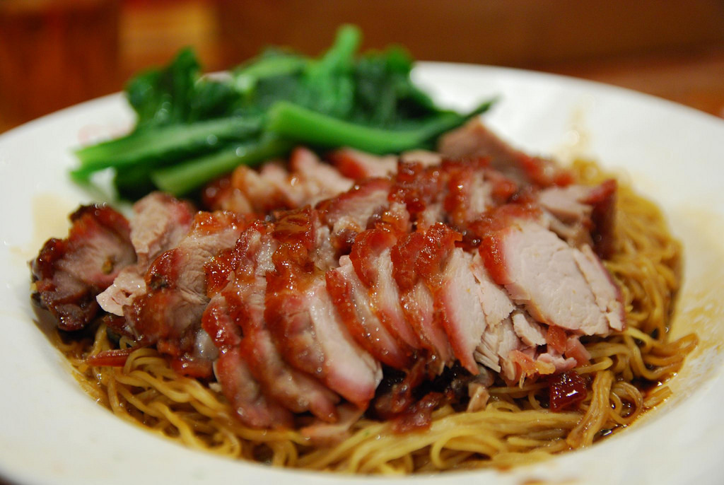 BBQ Pork Dry-Tossed Noodles - China Bar, by avlxyz, on Flickr