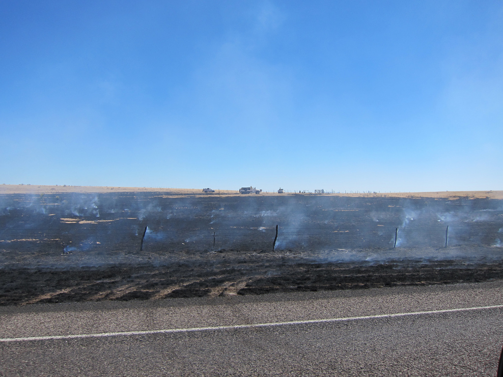 West Texas Grass Fire - Marfa, TX by slopjop, on Flickr