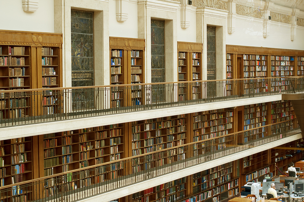 Inside the Mitchell Library reading room by >littleyiye<, on Flickr