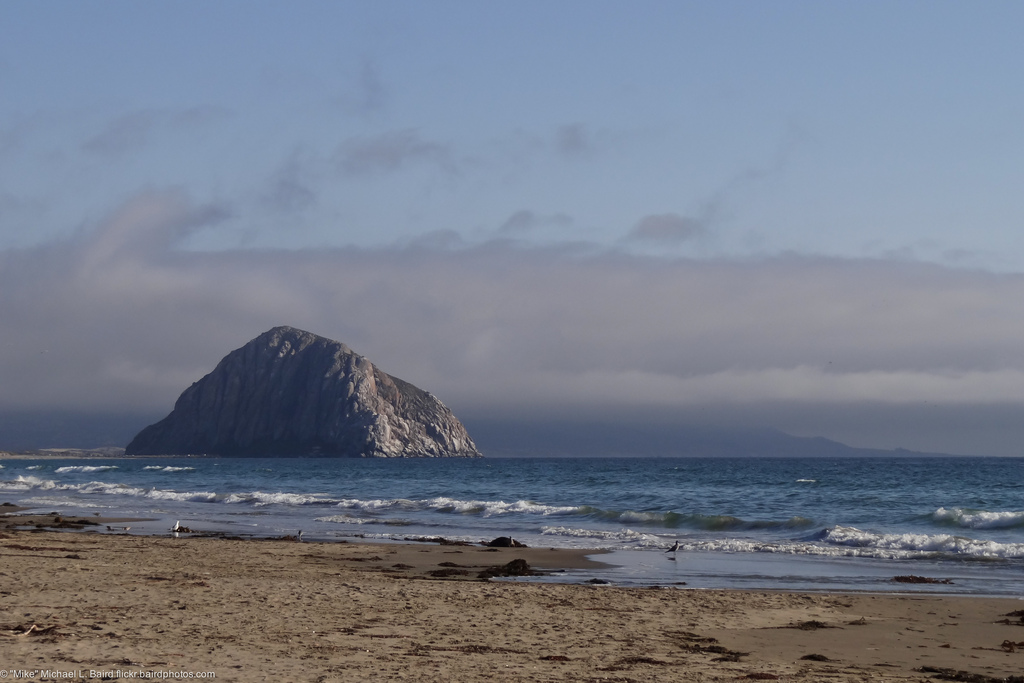 Morro Rock from North Morro Strand State by mikebaird, on Flickr