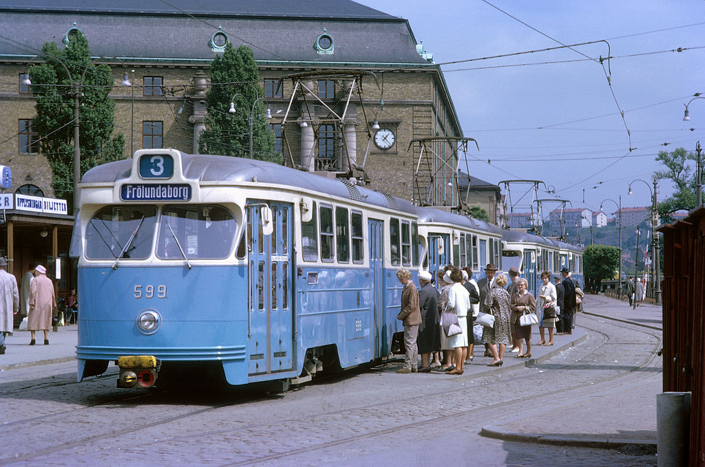 Tram in Gothenburg in 1962 by Stockholm Transport Museum Commons, on Flickr