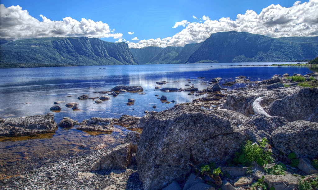 Fjord on Western Brook pond by manumilou, on Flickr