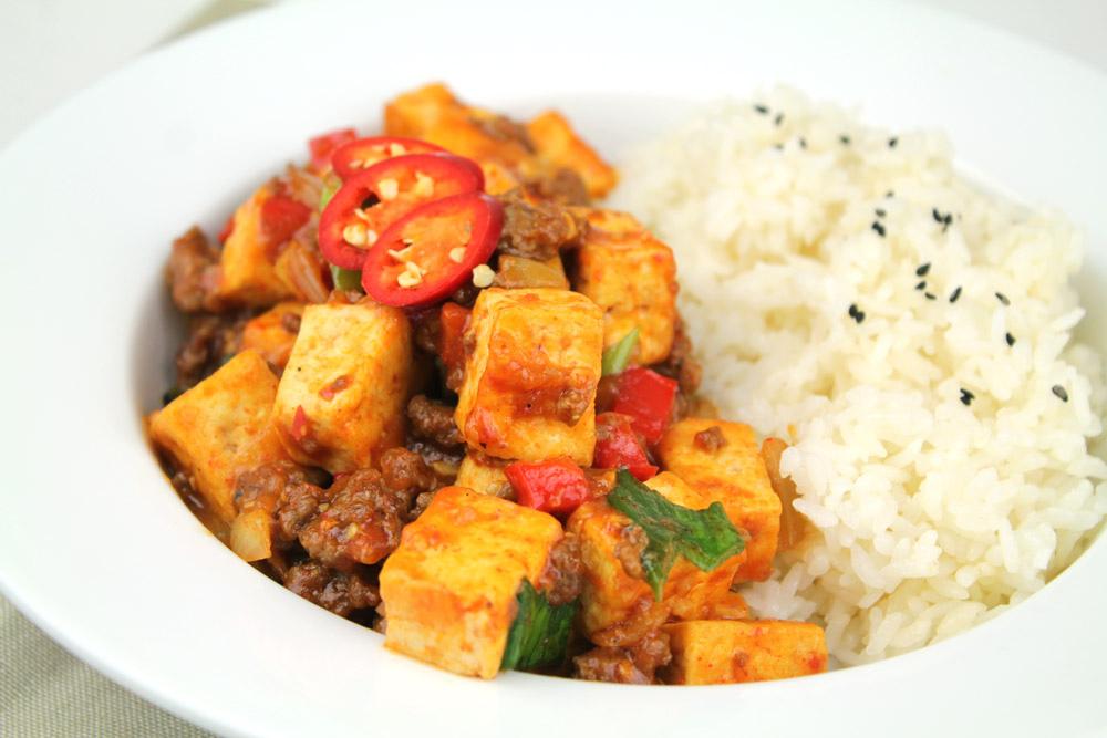 Spicy stir-fry tofu [Mapa Dubu] by KFoodaddict, on Flickr