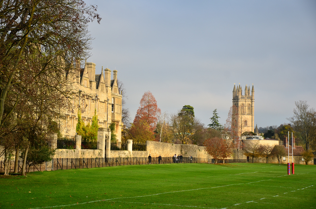 Magdalen College School playing fields b by Ben Sutherland, on Flickr