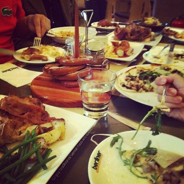 Late thanksgiving dinner at a German res by nicwn, on Flickr
