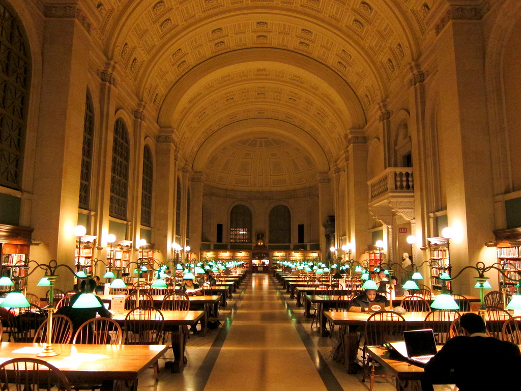 Boston Public Library Bates Hall by MiguelVieira, on Flickr