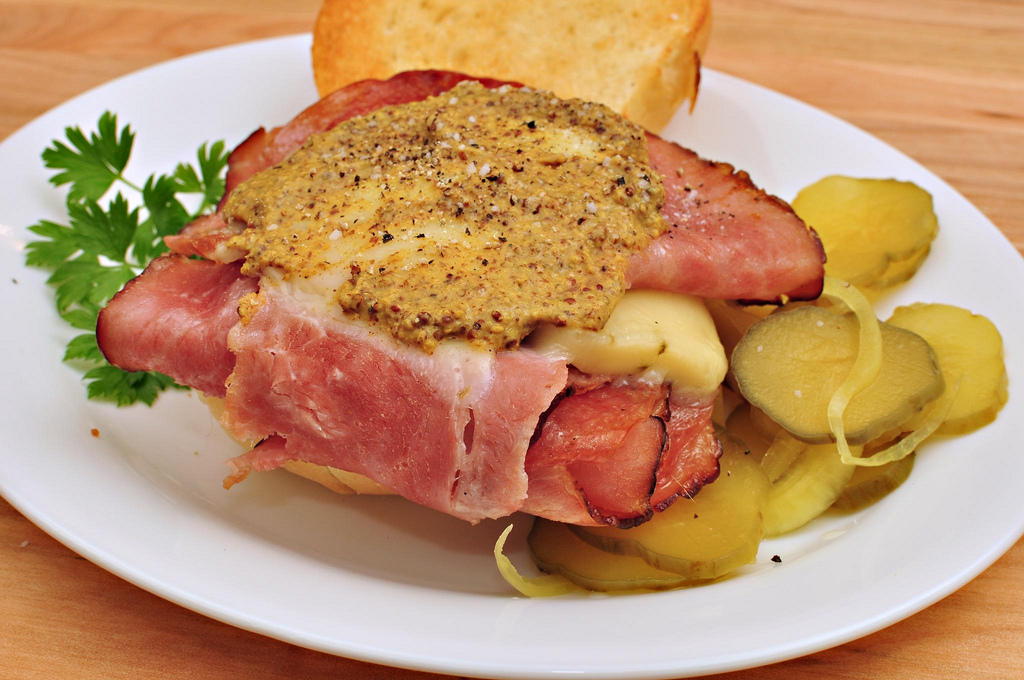 Mmm... hot ham and cheese by jeffreyw, on Flickr