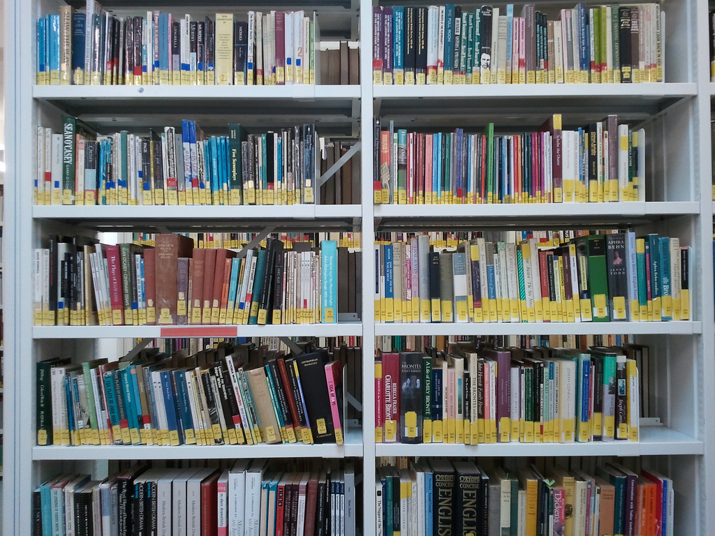 Library Bookshelf by twechy, on Flickr