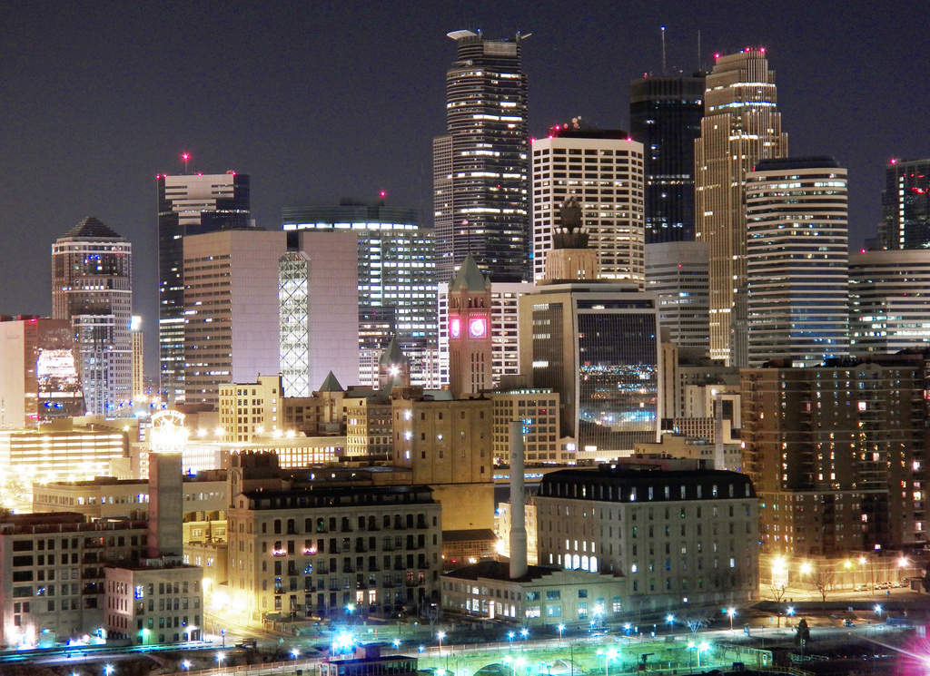 Minneapolis Skyscrapers at Night by Mr. Moment, on Flickr