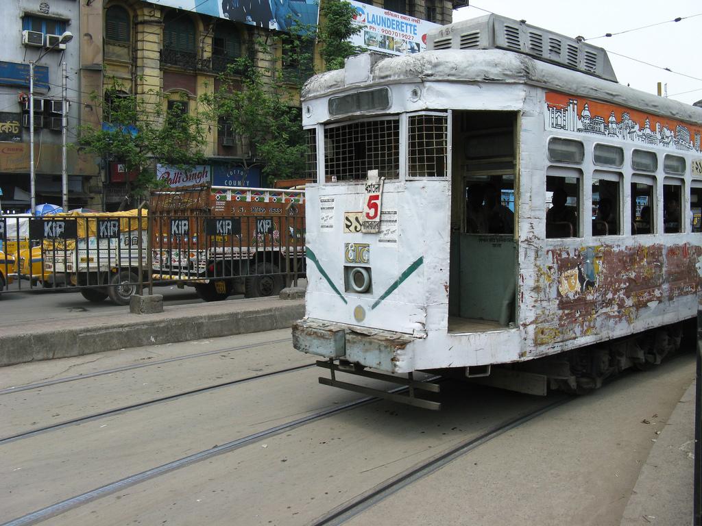Calcutta tram by shankar s., on Flickr
