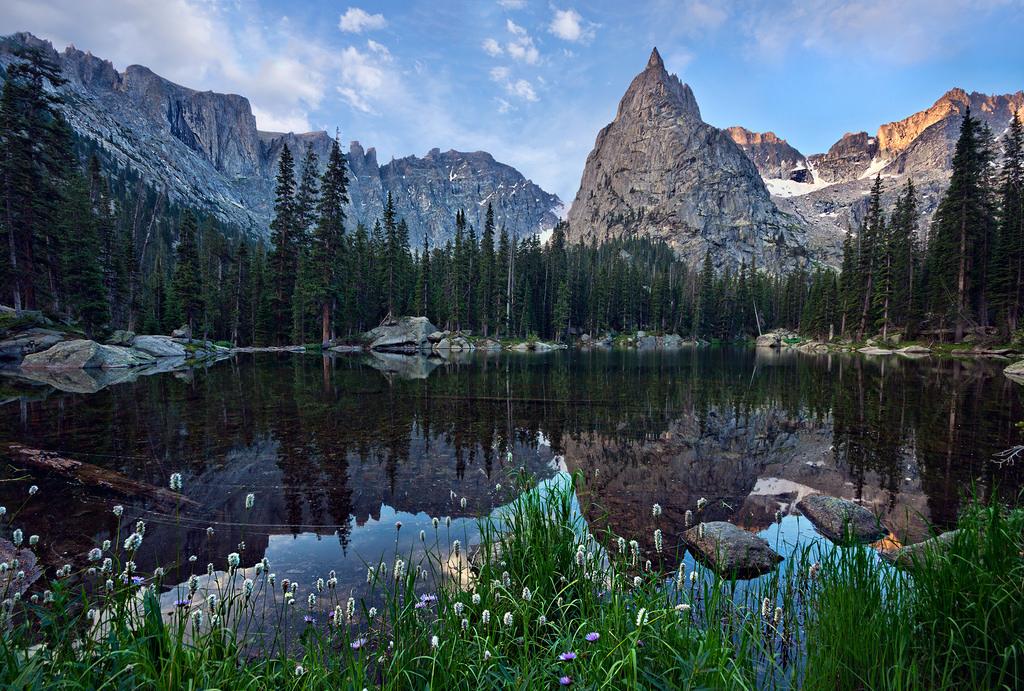 Lone Eagle Peak above Mirror Pond by Steven Bratman, on Flickr