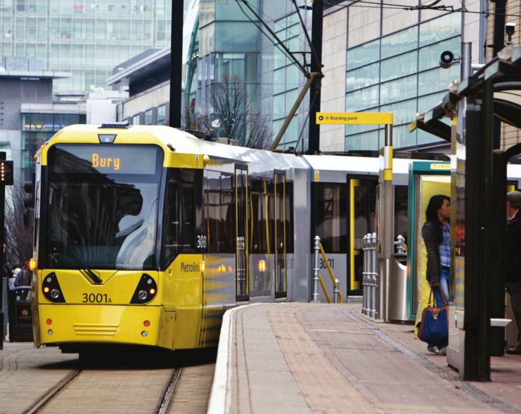 Bury Tram at Market Street Station, Manc by dullhunk, on Flickr