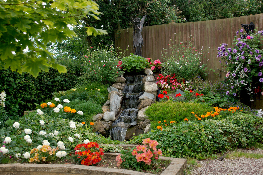 Garden Waterfall by cobaltfish, on Flickr