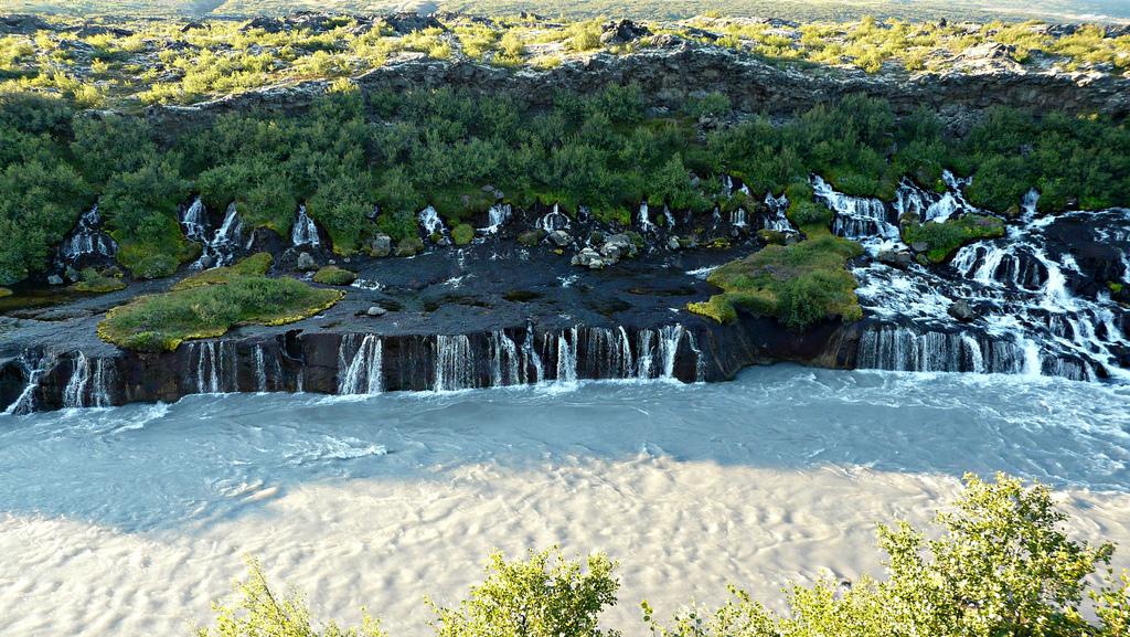 Hraunfossar waterfall by MindsEye_PJ, on Flickr