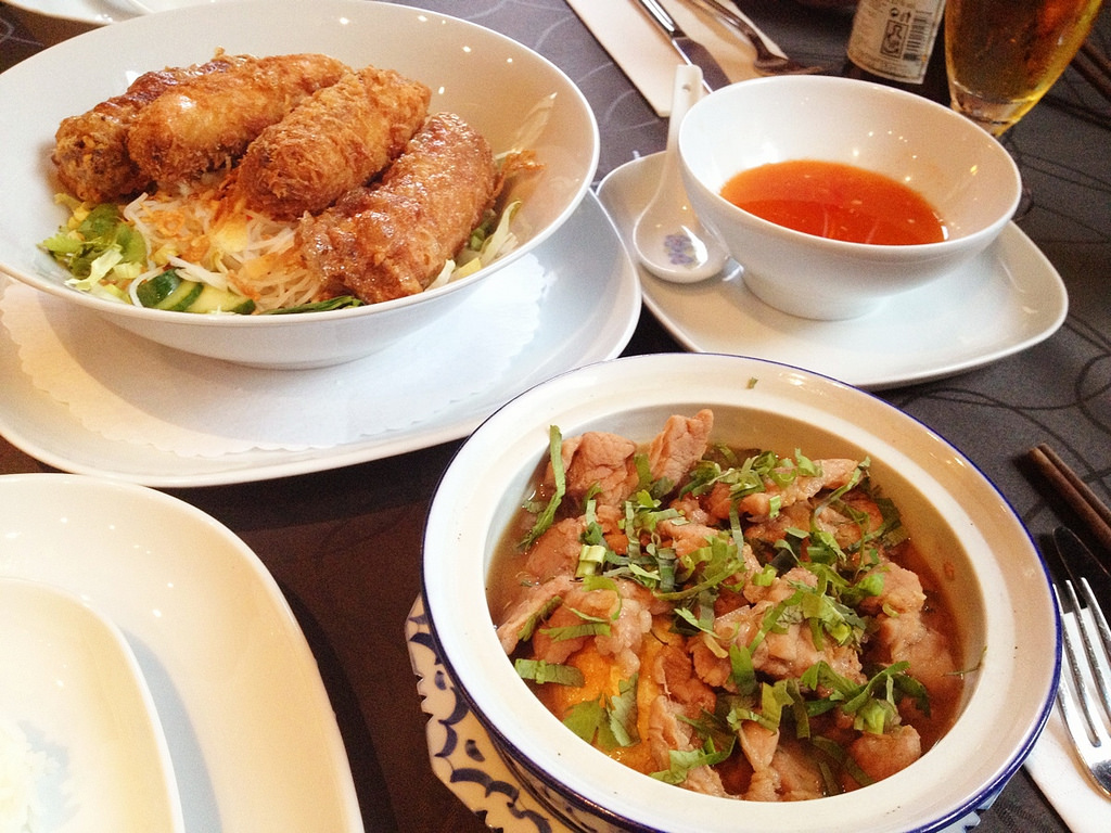 Yummy vietnamese food! by kalleboo, on Flickr