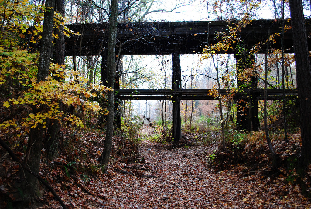 Abandoned Railroad Trestle & Autumn Leav by Patrick Feller, on Flickr