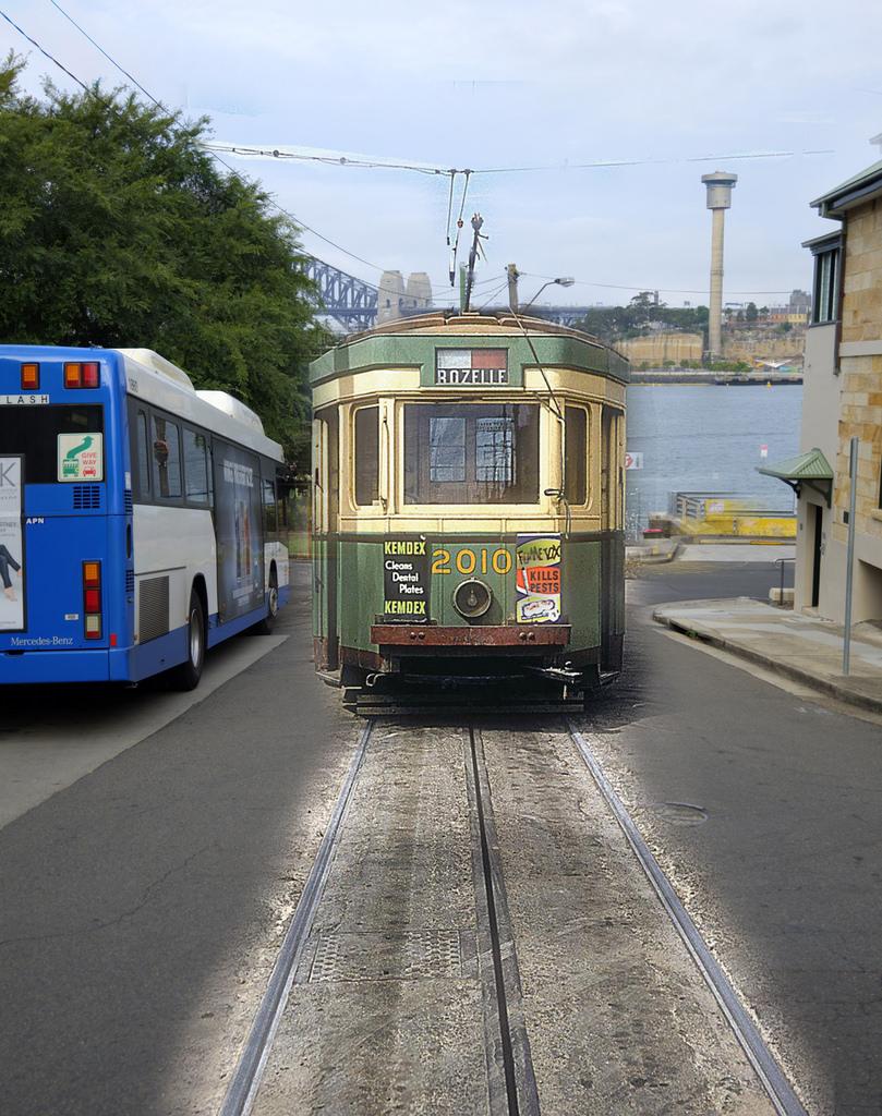 Balmain Wharf Ghost Tram by Balmain & Glebe Heritage, on Flickr