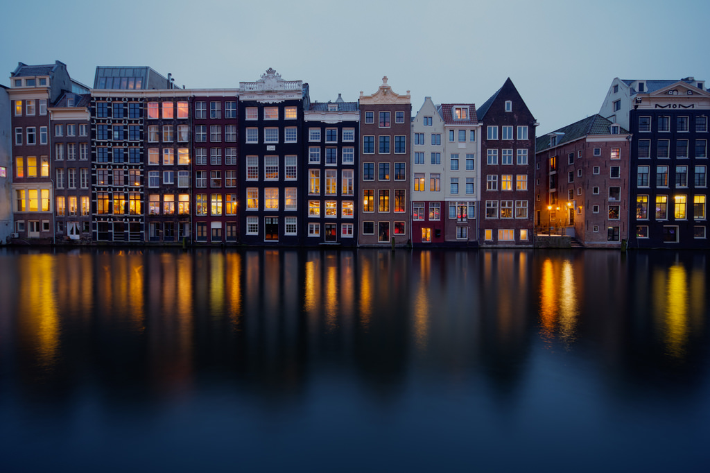Amsterdam by Night by Lennart Tange, on Flickr