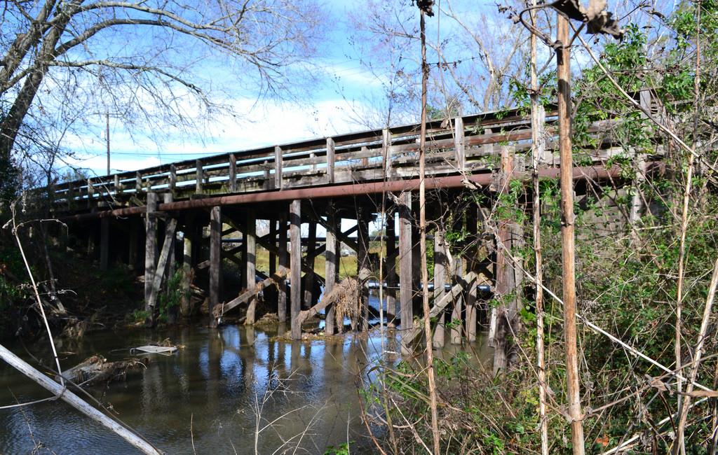 Timber Bridge, Old Galveston Rd over Mus by Patrick Feller, on Flickr