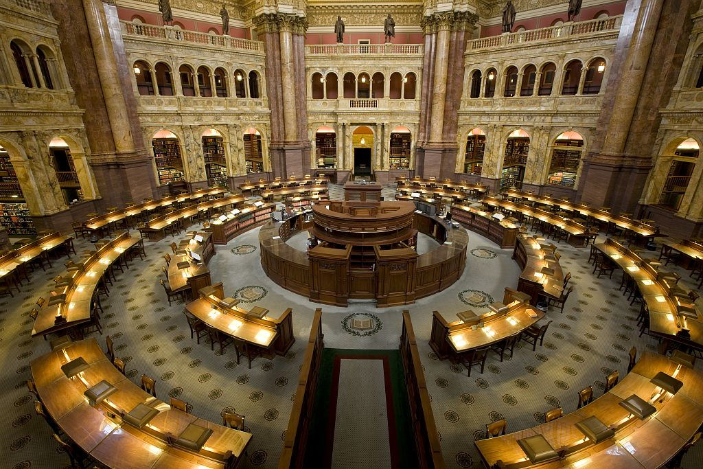 [Main Reading Room. View from above show by The Library of Congress, on Flickr