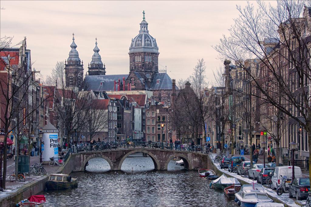 Amsterdam sunset by Bert Kaufmann, on Flickr