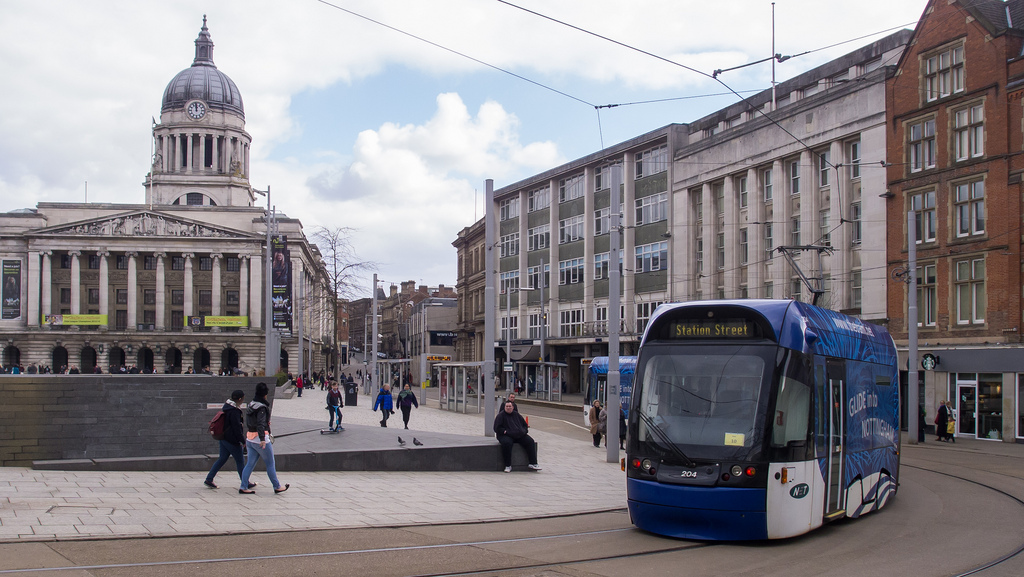 Nottingham tram 204 in Old Market Square by interbeat, on Flickr