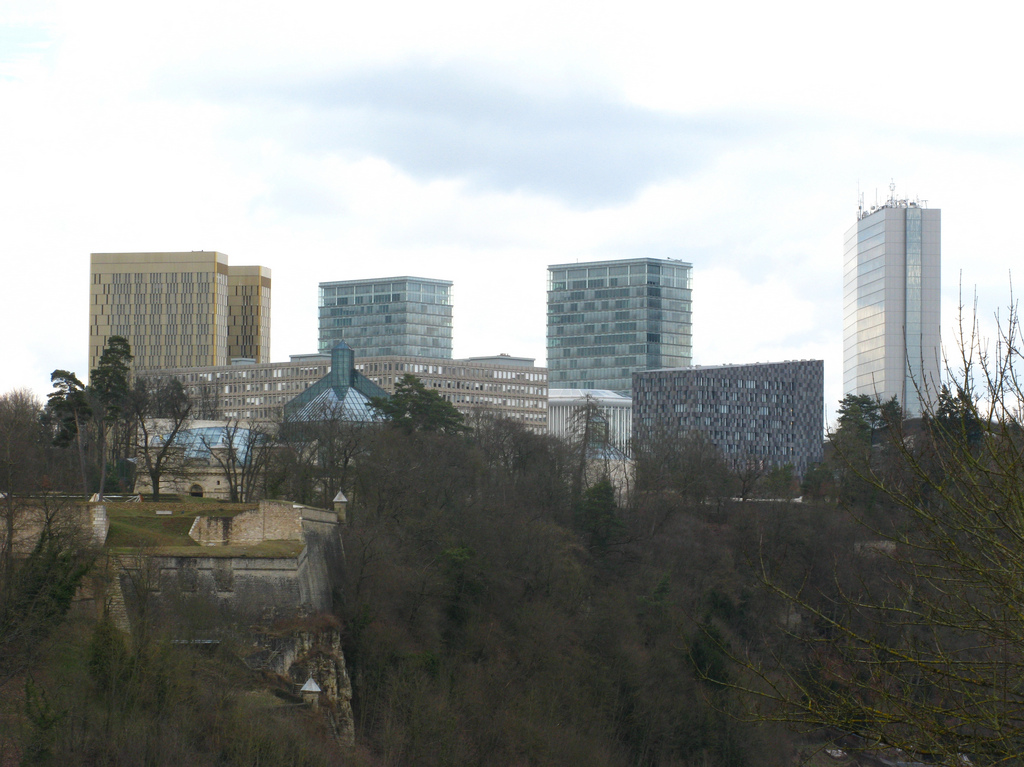Skyscrapers in Luxembourg City by Tilemahos Efthimiadis, on Flickr