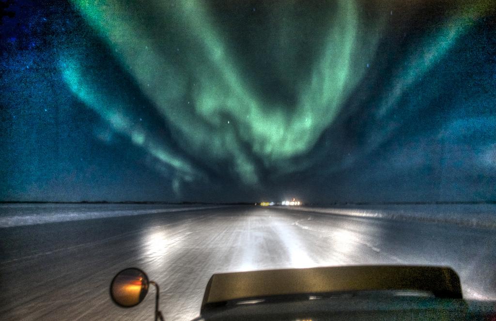 Approaching Lockhart under the aurora: I by Nonac_Digi, on Flickr