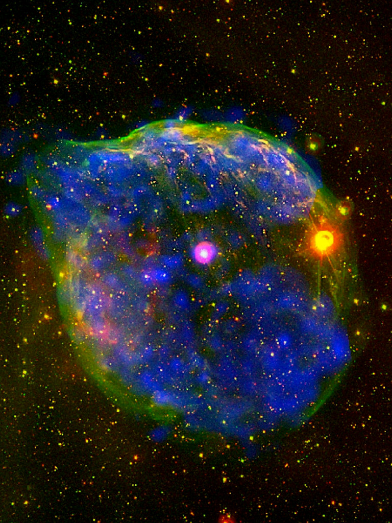Wolf-Rayet Bubble Nebula by sjrankin, on Flickr