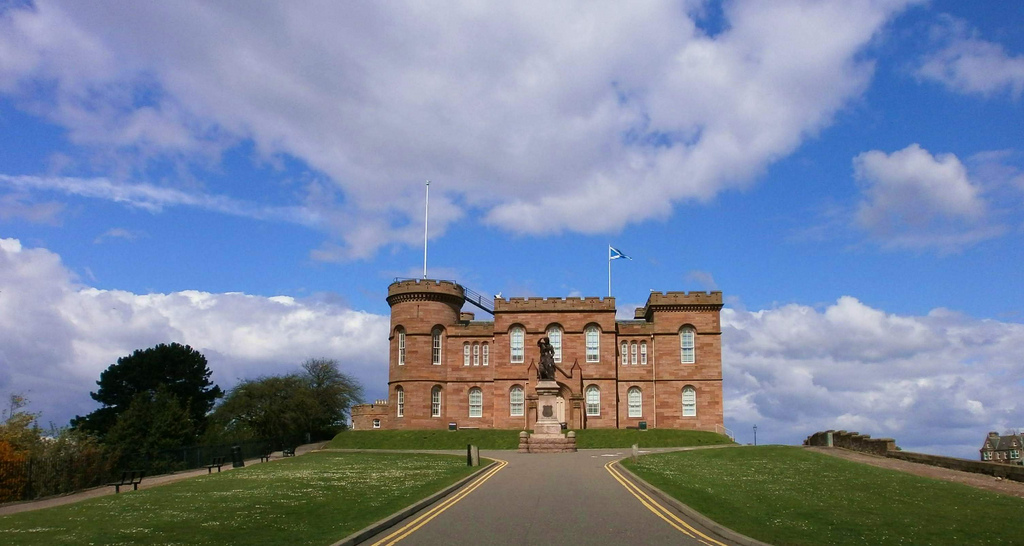 Inverness Castle & Flora MacDonald Statu by conner395, on Flickr