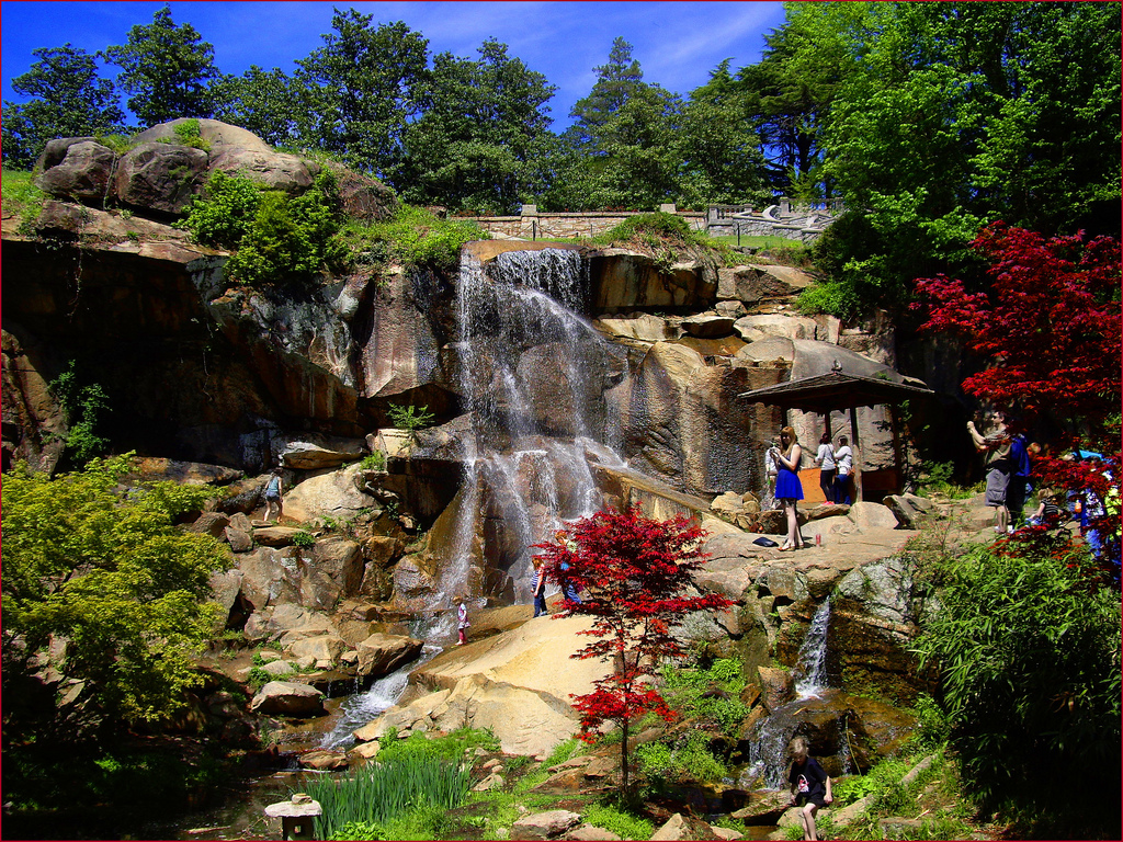 Waterfall -- Japanese Gardens Maymont Ri by Ron Cogswell, on Flickr